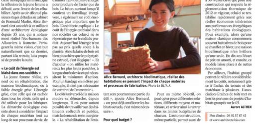 """""""Un jour, un geste pour la planète"""", Dauphiné Libéré, vendredi 15 février 2019"""